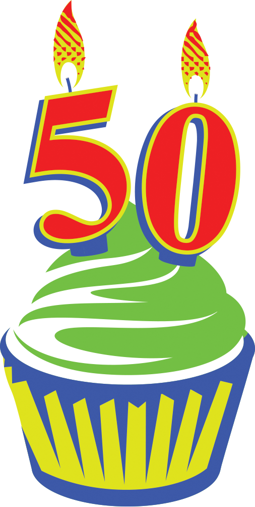 Happy 50th Birthday PNG Transparent Images, Pictures, Photos.