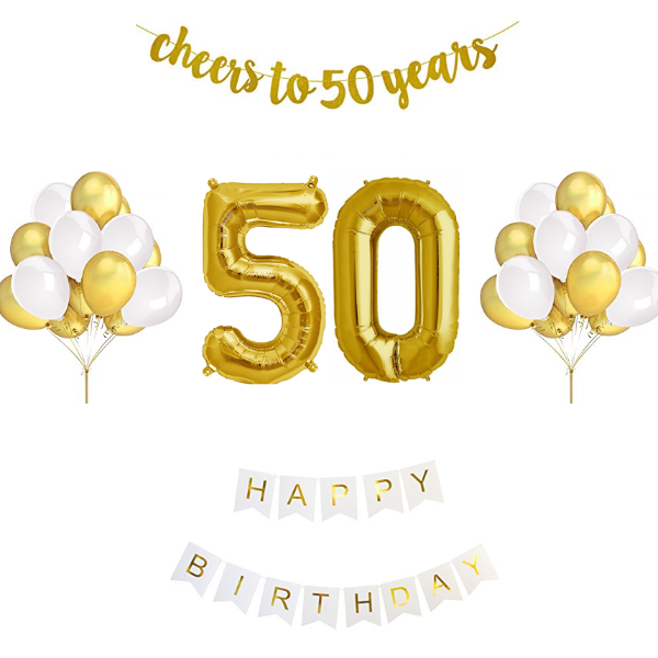 50th Birthday Balloon Decoration Set in 2019.