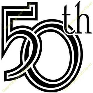 50th class reunion clipart #2