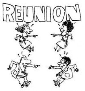 50th class reunion clipart #7