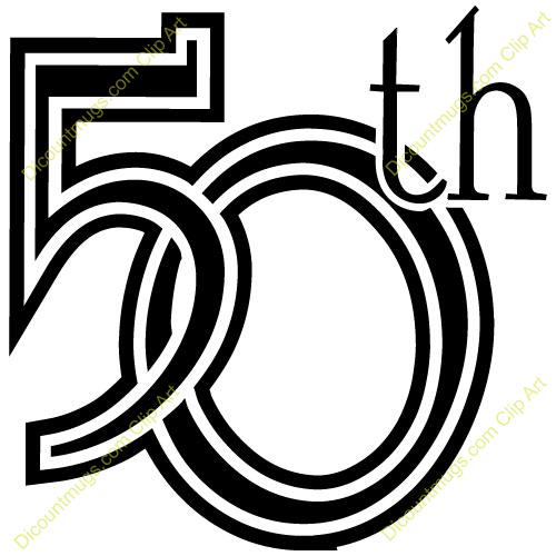 50th clipart 6 » Clipart Portal.