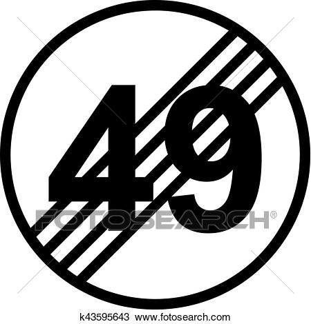 50th birthday traffic sign Clipart.