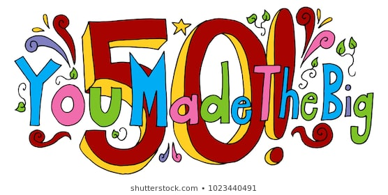 50th Birthday Images Stock Photos Vectors Shutterstock Cheerful Free.