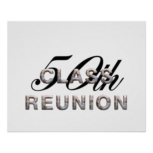 50th School Reunion Clip Art.