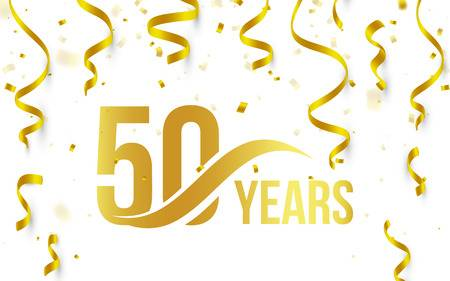 50th Wedding Anniversary Stock Vector Illustration And Royalty Free.