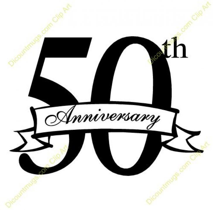 50th wedding anniversary clipart.