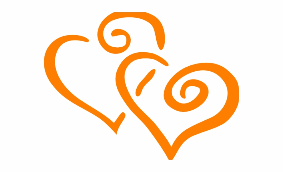Orange Flower Clipart Orange Heart.