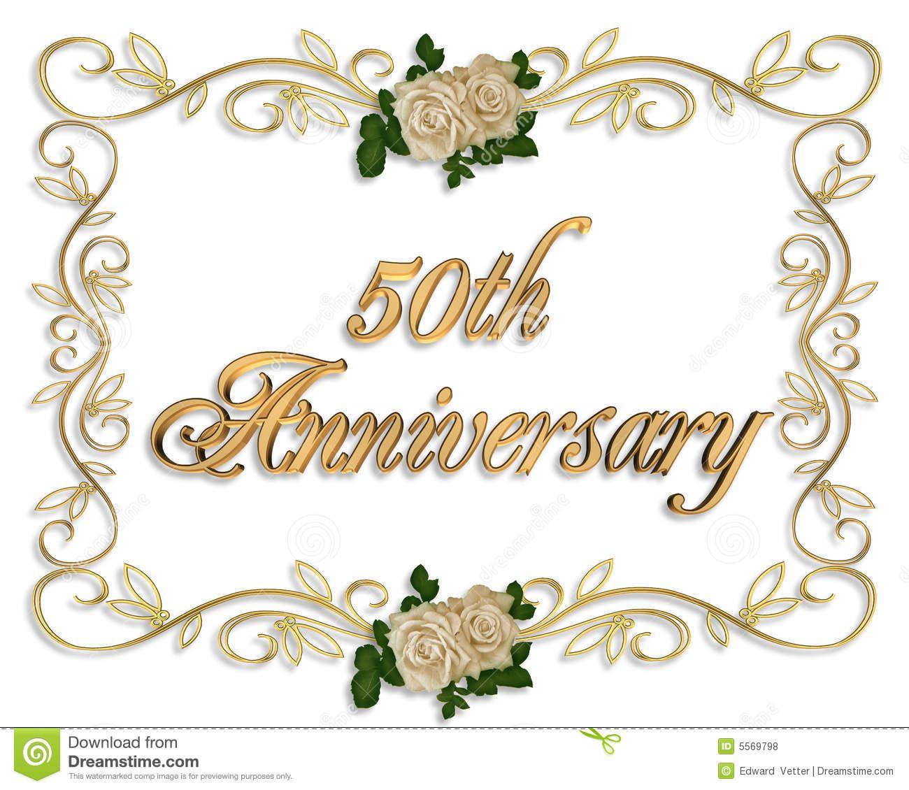 50th Anniversary Invitation Royalty Free Stock Photos.