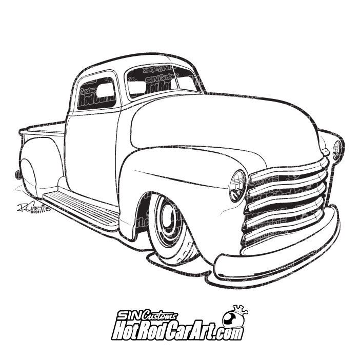Hot Rod 1952 Chevy Truck.