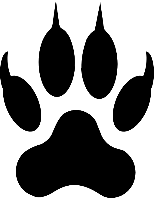 Lion Footprint Clipart.