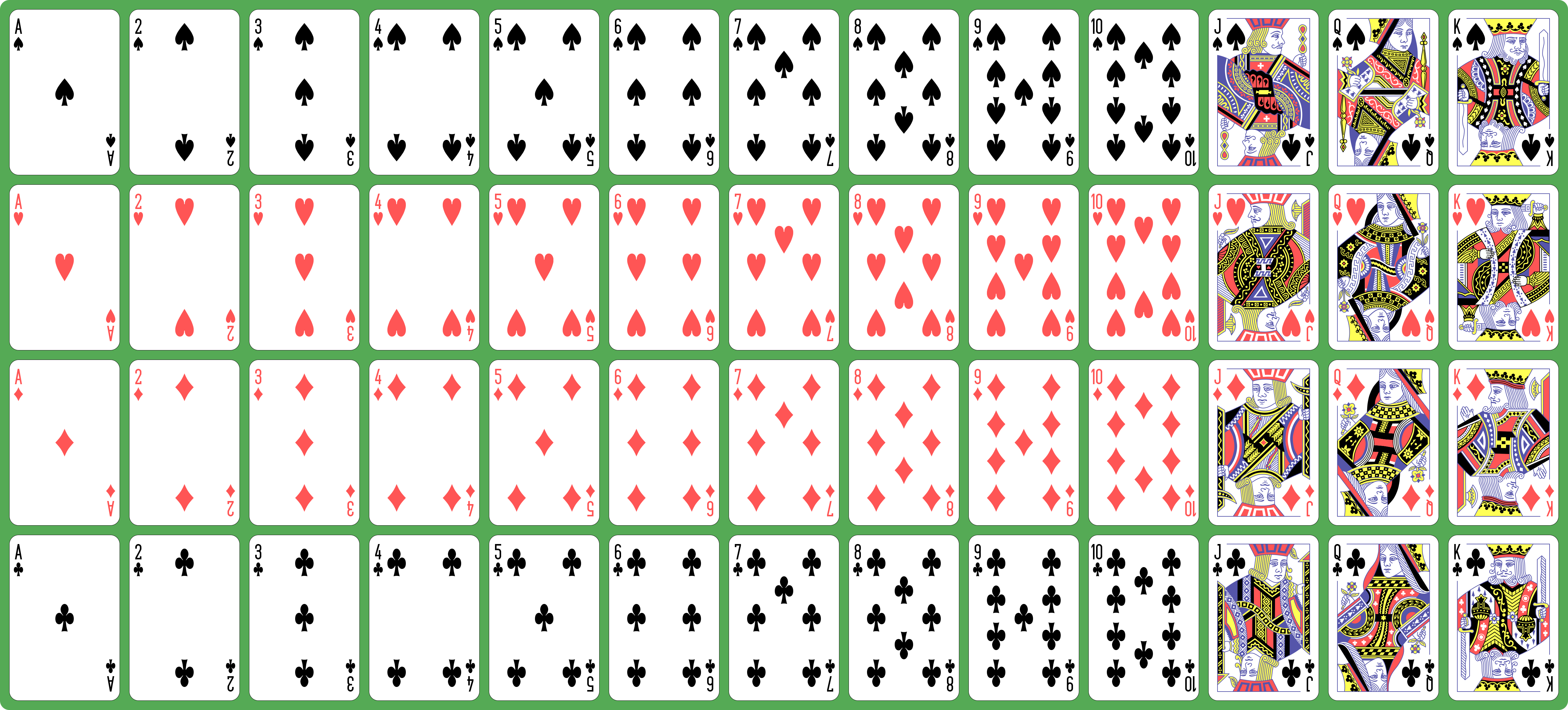 File:English pattern playing cards deck.svg.