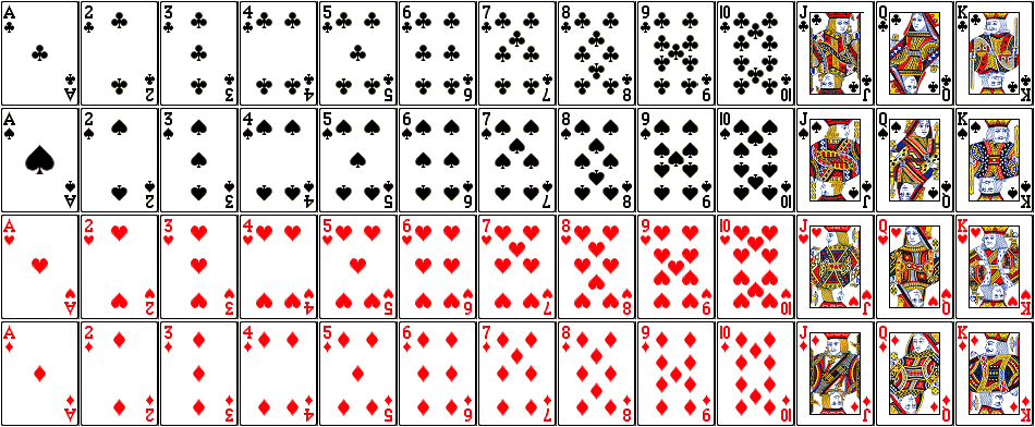 Playing Card Frequencies.