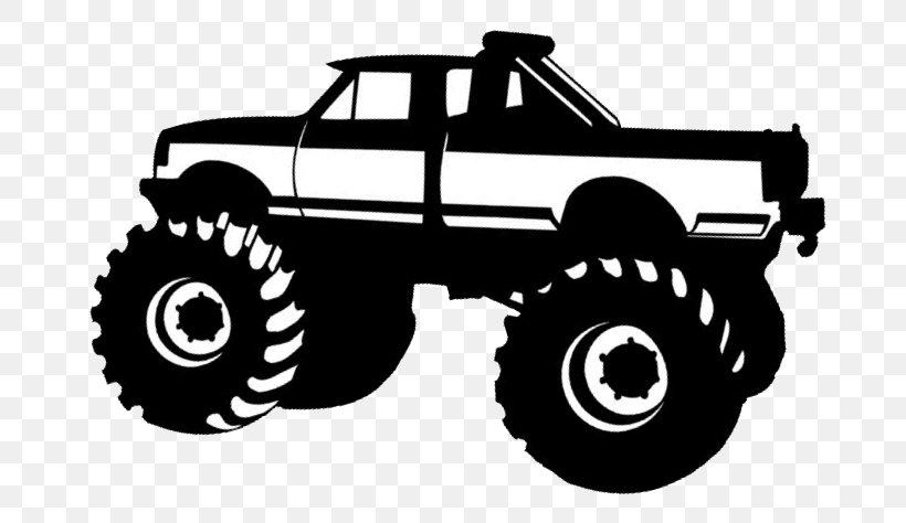 Car Pickup Truck Monster Truck Silhouette Clip Art, PNG.