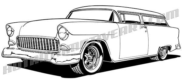 1955 Classic Custom Wagon Chopped.