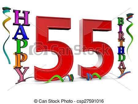 Clipart of all for the good 55 birthday.