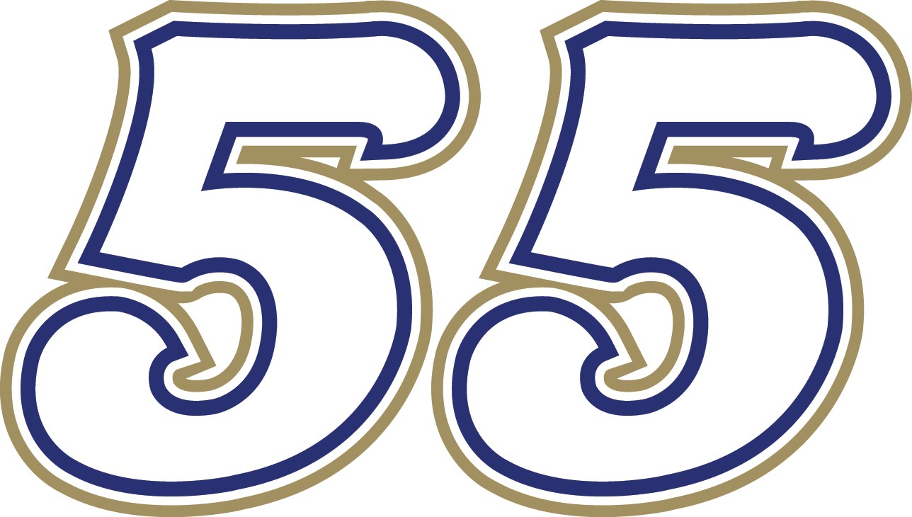 Clipart of Number 55.