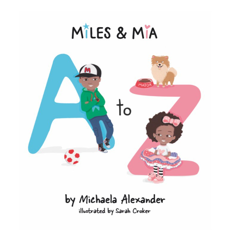 Miles & Mia A to Z picture book, by mummy blogger Laura.