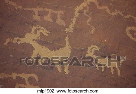Stock Photo of Native American petroglyphs in the Valley of Fire.