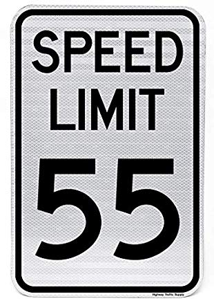 Speed Limit 55 MPH Sign 18