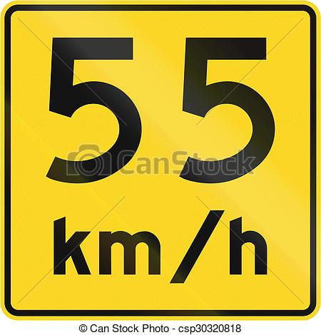 Speed Limit 55 Kmh In Canada.