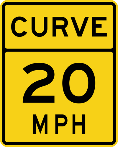 Speed limit 20 roadsign vector image.