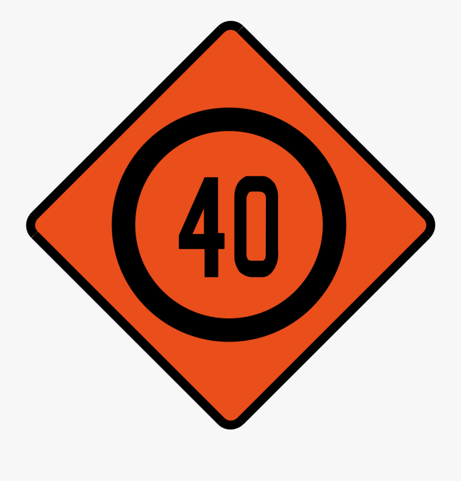 Transparent Speed Limit Sign Png.