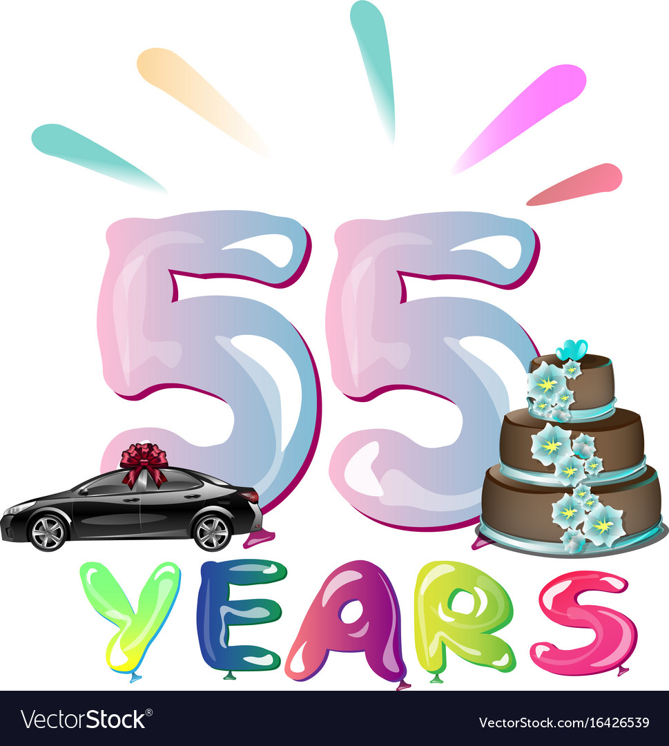 Happy birthday fifty five 55 year.