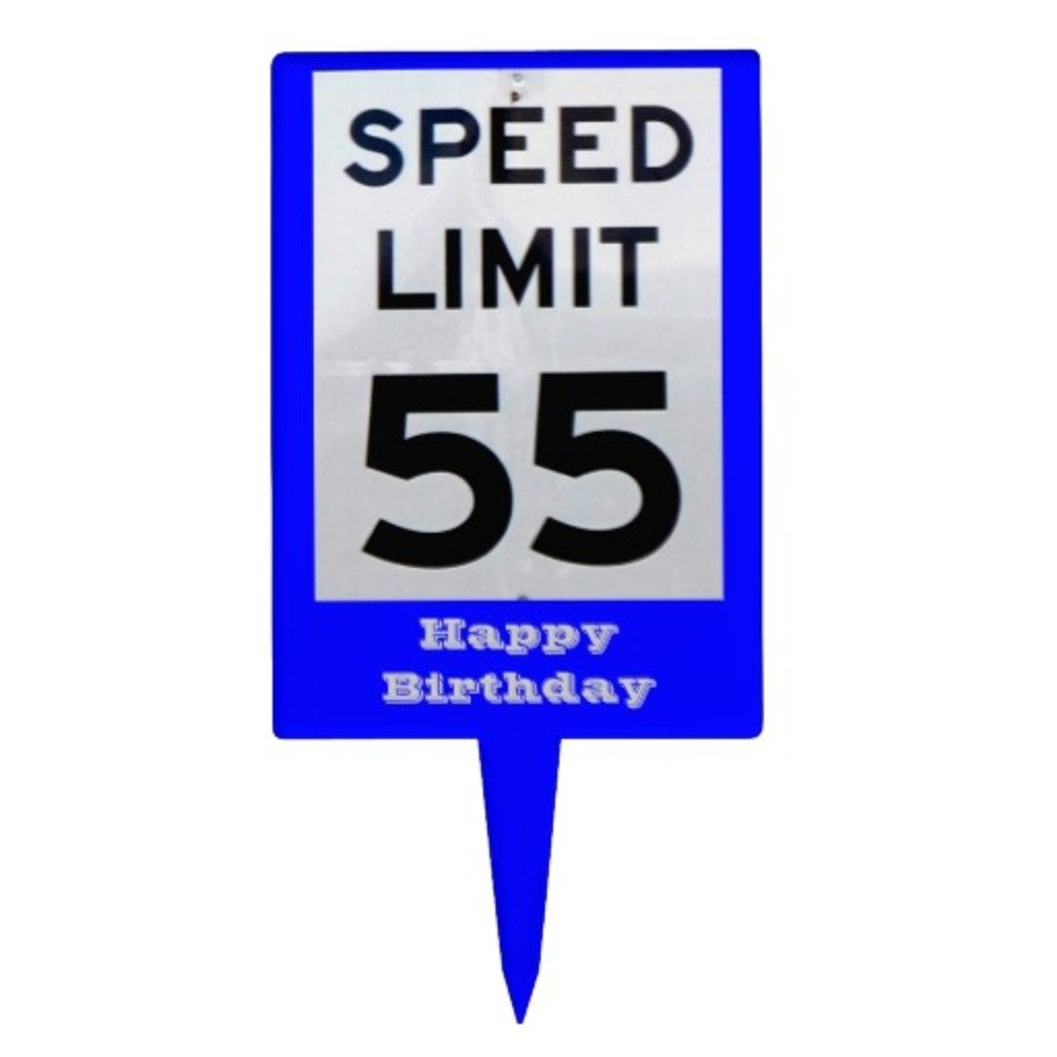 Speed Limit 55 Sign Clip Art free image.