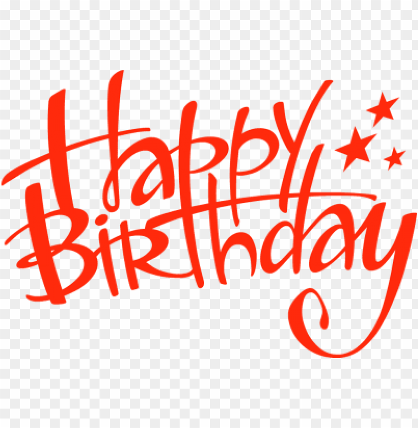 happy birthday handwritten PNG image with transparent.
