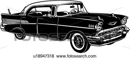 , 1957, automobile, bel air, car, chevrolet, chevy, classic, classic car,  sedan, Clip Art.