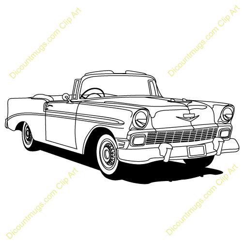 Chevy Classics Car Clip Art.