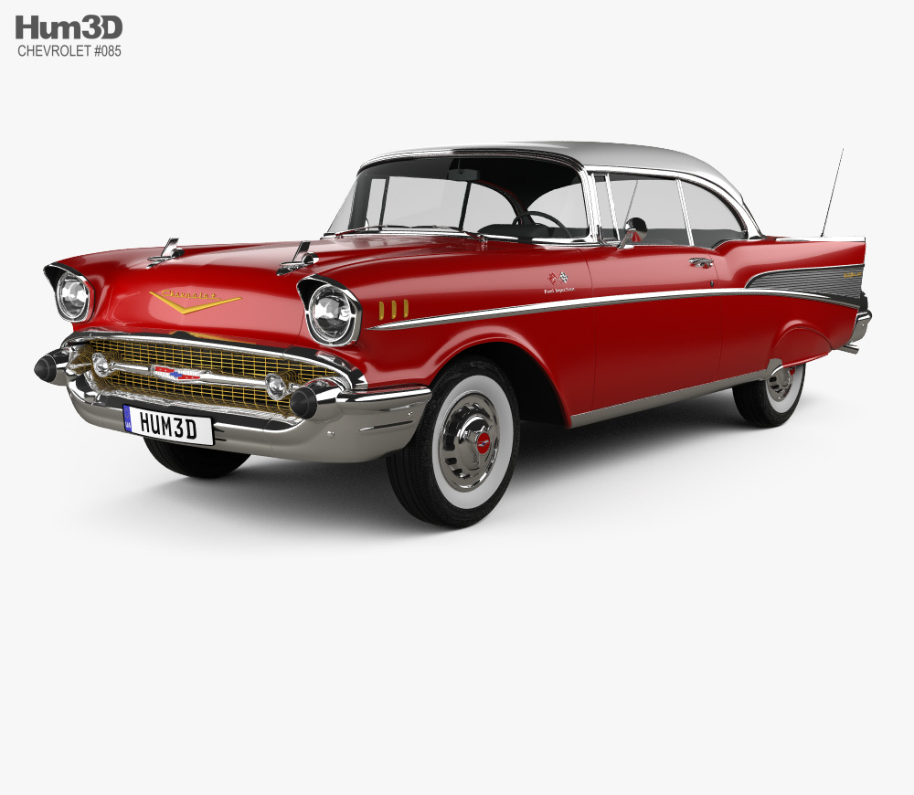 Chevrolet Bel Air Sport Coupe 1957 3D model.