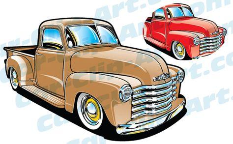 57 chevy truck clip art.