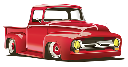 Drawing of a 1956 Ford F100Just add whitewalls!.