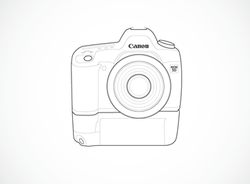 Canon 5D Illustration Clipart Picture Free Download.