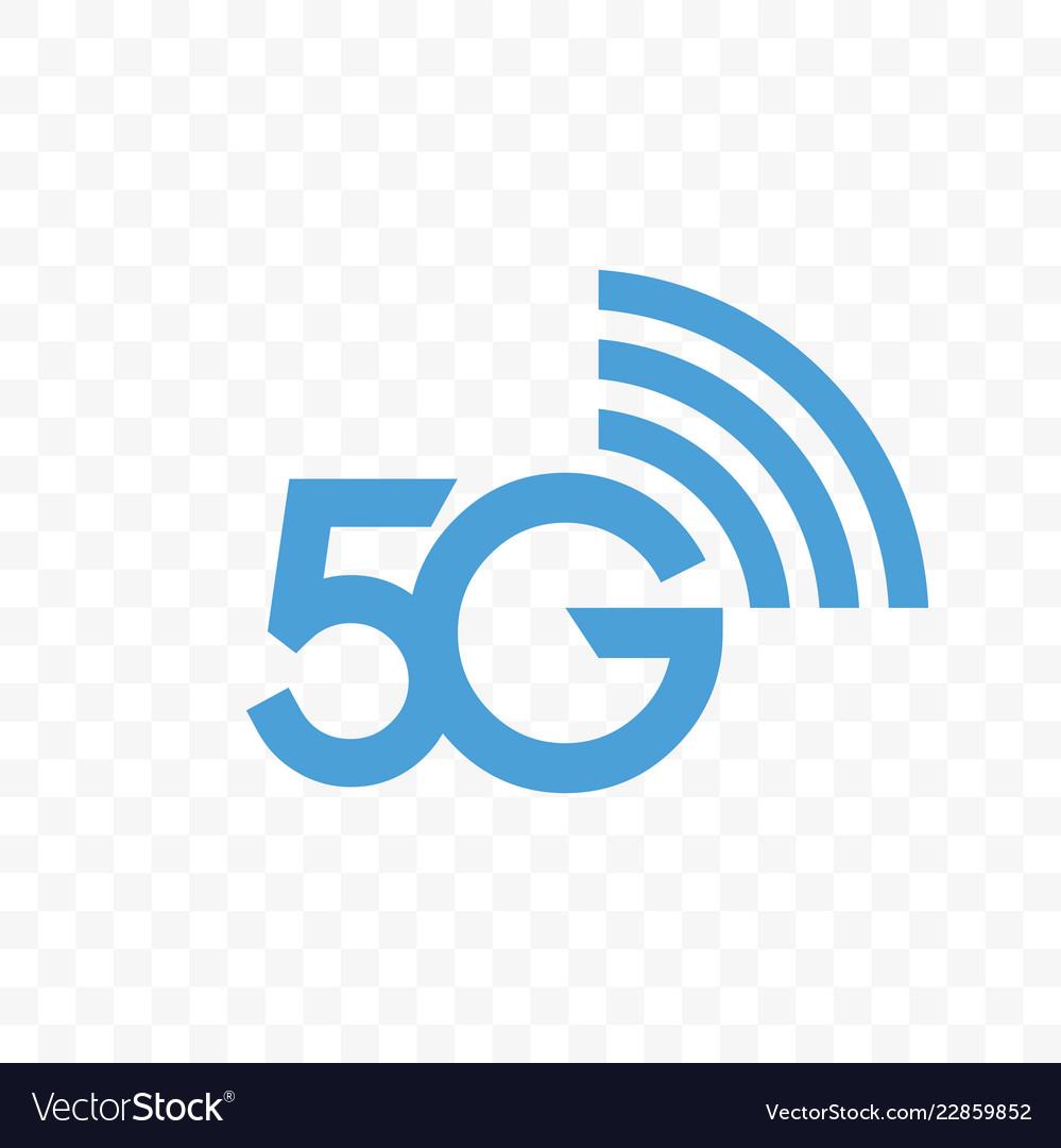 5g internet network logo icon.
