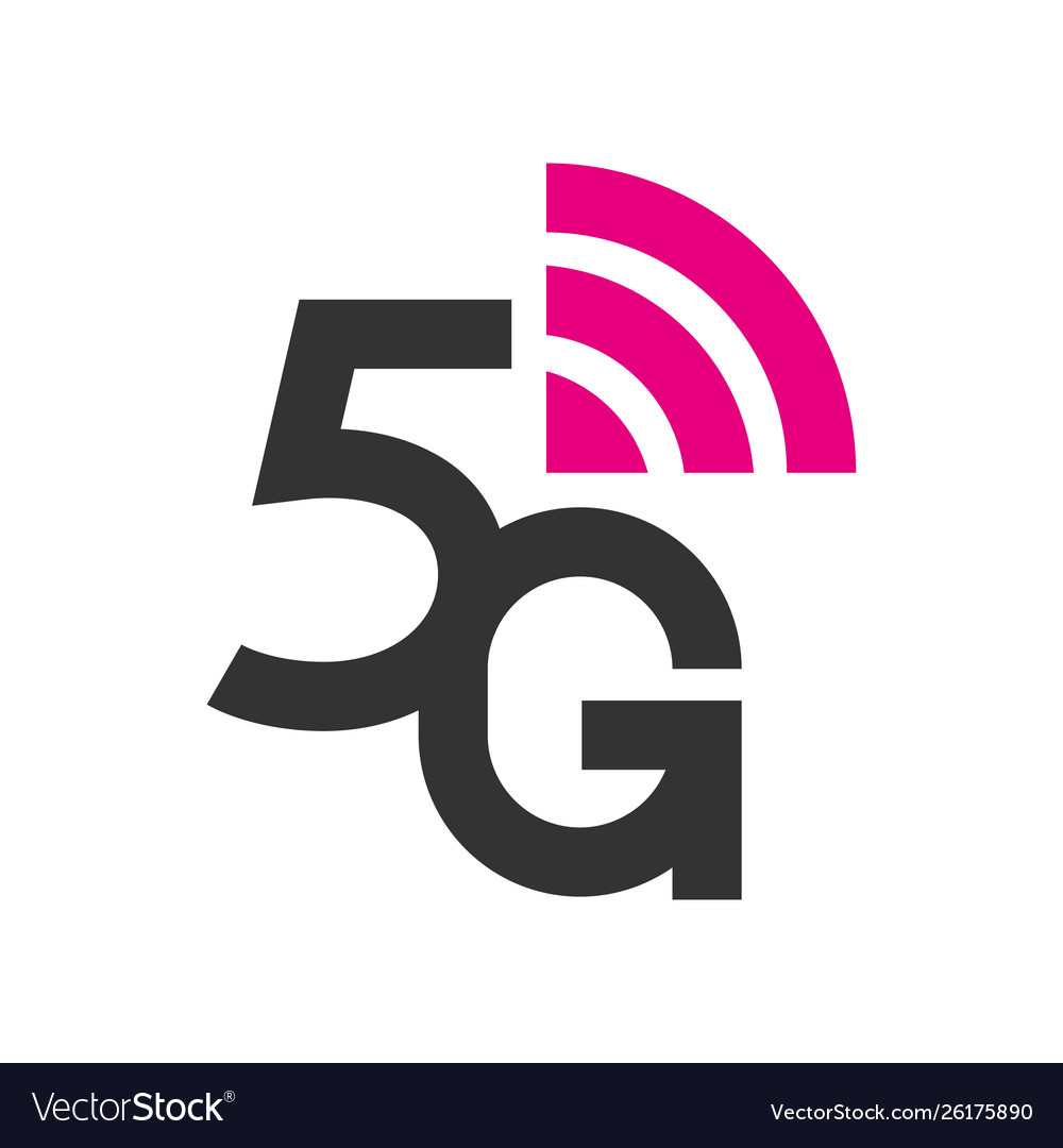 5g logo network wireless systems and internet.