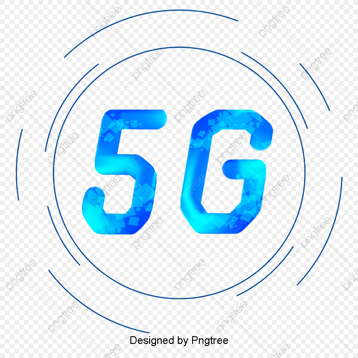 Simple 5g Technology Round Illustration, Technology, Information.