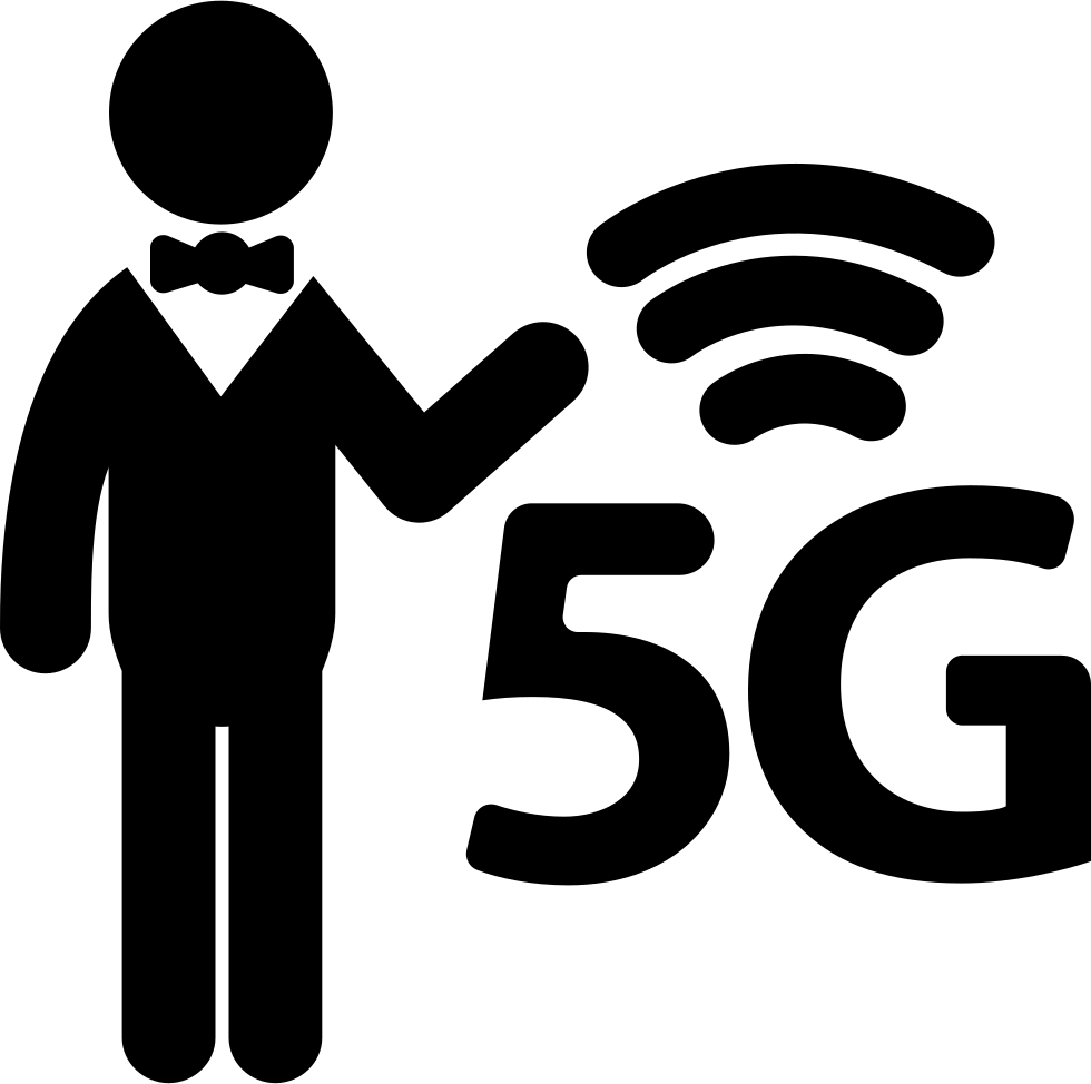 5G Sign And A Man Svg Png Icon Free Download (#26926.