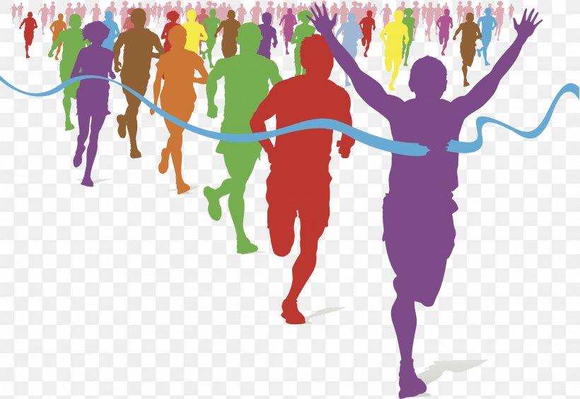 The Color Run Running Fun Run Racing Clip Art, PNG.