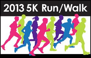 5k Fun Run Race Clipart.