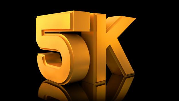 Video 5k logo. Photo.