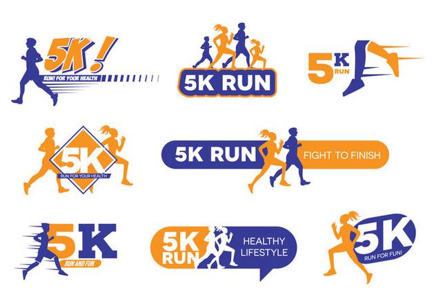 5k Run Logo Vector Free Vector Download 433041.