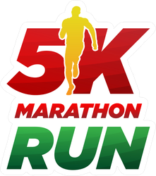 5k Marathon Running Logo.