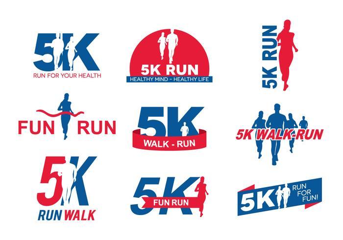 5K Running Logo.