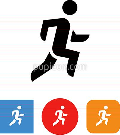 Fitness Running Race 5K Vector Icon.