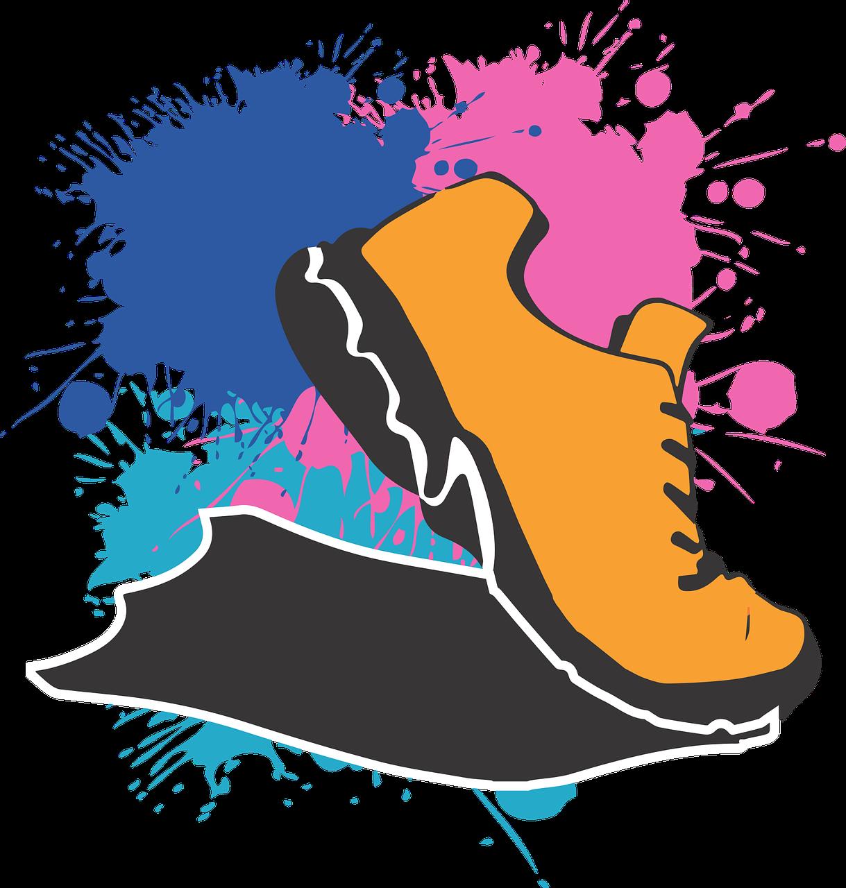 Running,shoe,marathon,5k,free vector graphics.