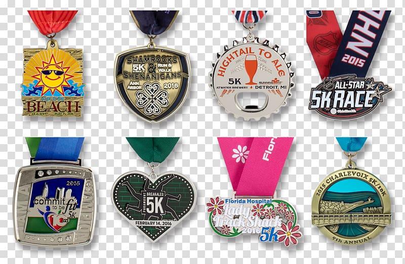 Gold medal 5K run Award Running, medal transparent.
