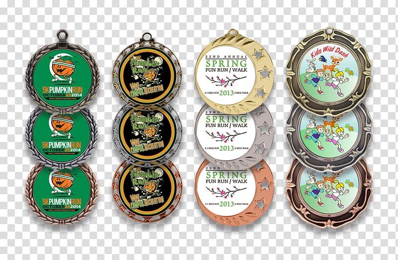 Medal Trophy Award Coin 5K run, medal transparent background.