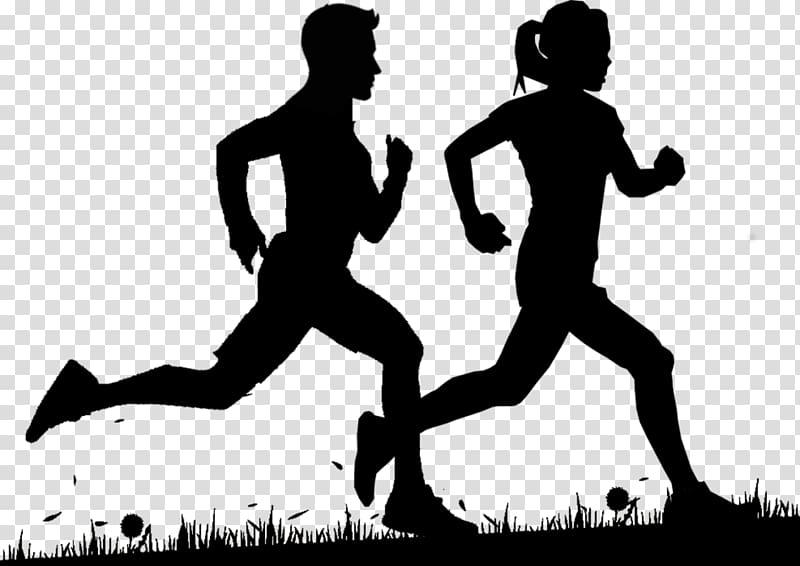 Man and woman running illustration, Running Boston Marathon.
